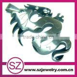 Punk dragon stainless steel pendant necklace
