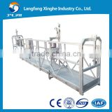 zlp800 hot galvanized Rope suspended platform/ construction gondola hoist / suspended cradle for window cleaning