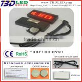 B721 red mini car message sign led price tag led name badge card tags,led name tags,12V led name card