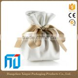 High End Custom Luxury White PU Leather Small Jewelry Packaging Bag With Drawstring                                                                         Quality Choice