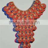 5pcs 6color Luurious Hot Fi Craft Rhinestones African Neckline Lace Collar Embroidery Sewing Appliques