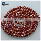 Factory plating color wholesale rondelle beads in bulk china supplier beads for clothing accessories