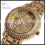 hip hop micro pave diamond brand bling bling gold watches                                                                         Quality Choice