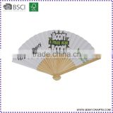 Custom Printed Folding Handmade Paper Craft Hand Hold Fan                                                                         Quality Choice