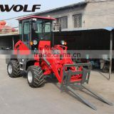 Specialized China Wheel Loader Manufacturer WOLF 1000kg small loader construction equipment ZL10