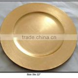 Gold Charger plate, charger tray, plate tableware