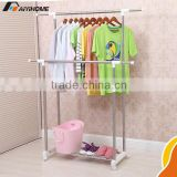 Garment usage lifting clothes rack,steel structure pipe rack,height adjustable chrome coat stand rack