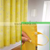 Hot Selling Oval Shower Curtain Rod Printed Corner Shower Curtain
