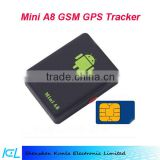 2016 super Mini A8 GPS Tracker Quad-Band GSM/GPRS/GPS Tracker, Assistant GPS tracker for Automotive, Motorbike, Kids tracking