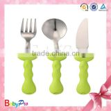 Babypro Hot New Products On China Market Stainless Steel Dinnerware Set Baby Spoon Fork Knife Set For Wholesale