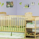 Hot sale bamboo 2 in 1 Full Size Crib and bamboo Changing Table Combo baby bed bay cot and new design changing table                                                                         Quality Choice