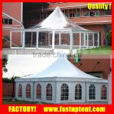 8x8m 10x10m 12x12m 15x15m Aluminum alloy frame and PVC coated dome pagoda tent with clear roof                                                                         Quality Choice