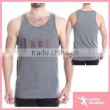 2015 plain100 cotton custom printed muscle stringer gym tank tops for men with printing logo hot sale