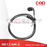 Newest design 2 way radio accessories small ear buds receive only kit earphone for Portable radio