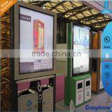 Outdoor Trash bin Advertising Light Box with Durable PC , Acrylic, Tempered glass front panel