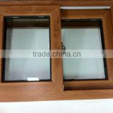 2016 New Design Japanese Windows grills UPVC window with white ASA color coating Wood effect high quality UPVC profiles