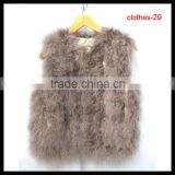 winter fashion clothing woman faux fur vest coat