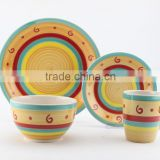 16pc stoneware hand painted dinnerset service for 4/ AB grade/2016 new design/stoneware plate