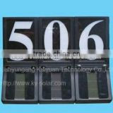 solar light house number plate/solar light doorplate