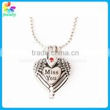 2015 fashion style stainless steel heart cremation pendant
