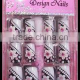 24pcs French Acrylic False Full Nail Tips + box HN1247