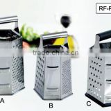 Cheese Grater - 6-sided Stainless Steel Box Grater for Hard Cheese, Parmesan, Vegetable