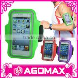 With private label multi-use washable velcro smartphone sport arm band