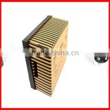 Professional Pinstriped Colorful Black and Brown Corrugated paper Shoes Gift Packaging box