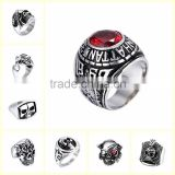 Wholesale simple stone ring designs jewelry environmental stainless steel jewelry stone rings