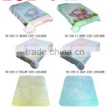 Korea style Hot compressed raschel baby blanket NO.1203/NO.1239