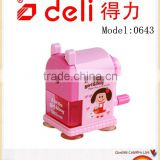 Deli Pencil sharpenner Rotary Handle Pencil Sharpenner for kids Model 0643