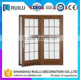 Hot sale aluminum frame main door with grill designs