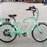 factory price high power beach cruiser e-bike with lcd display man style
