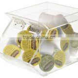 wholesale clear acrylic candy box custom plexiglass chocolate display stand for retailer shop