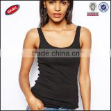 china factory directly slim fit cotton plain black cheap wholesale tank top women clothing