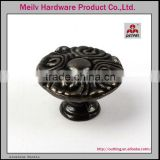 Foshan Manufacturer 2016-2017 fancy black color black finish furniture hardware cabinet antique brass zinc alloy knobs