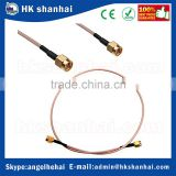 50cm Cable male to male with nut bulkhead RF Coax pigtail cable RG316 connector adapter mini din to bnc