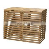 Large Cheap Outdoor Wooden Double Waste Bin
