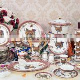 Bone china dinner ware ceramic bridge piece painting dinnerware set