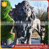 Antique outdoor decor large casting bronze lion garden sculpture NTBA-L312A
