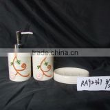 hand painted ceramic bathroom set for home & hotel supply