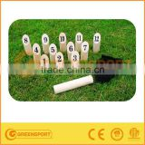 wooden number kubb game set