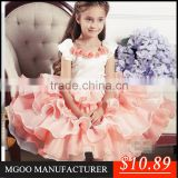MGOO Custom OEM 2015 Kids Tutu Dress for Evening Banquets Formal Ruffles Multi-Layers Champagne Baby Dress Princess Christmas