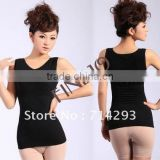 2014 Slimming Control Cotton Curve Model Body Shaper firm Tummy Control Vest Shape Wear Waspie plus size 3857