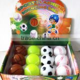 Rubber bounce ball sports ball rubber basketball tennis football baseball bounce ball Ligth up ball