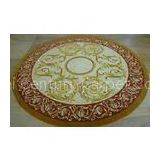 Patternned Handmade New Zealand Wool Carpets , Round Area Rugs Contemporary