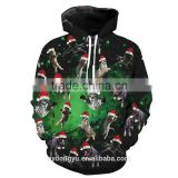 black green unisex 3D christmas cats sweatshirts/blue na plus size 3d hoodies/ fashioable 3d Christmas hoodies jacket