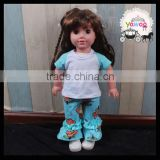 Yawoo short sleeve tops and floral ruffle pants doll outfits 18 inch toy doll clothes baby doll clothes