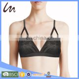 Women Sexy Lingerie Teen Bra Very Sexy Crochet Lace Unlined High-neck Bra 2024 Bralette