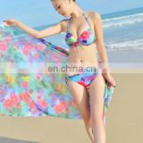 Women Sexy Bikini Three-pieces Suit Set Bandeau Triangle Push-Up Bra Swimsuit Beachwear Swimwear